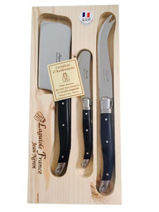 Laguiole Black Cheese Knife Set