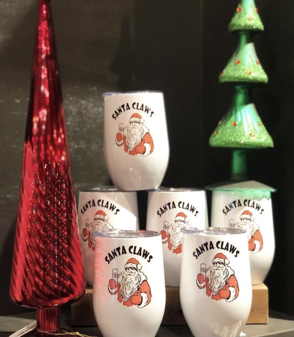 Santa Claws Wine Tumbler