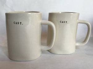 Black and White Print Mugs