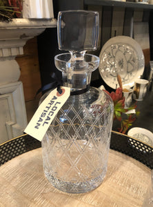 Hand Etched Pittsburgh Decanter