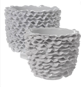Ceramic White Wave Pot