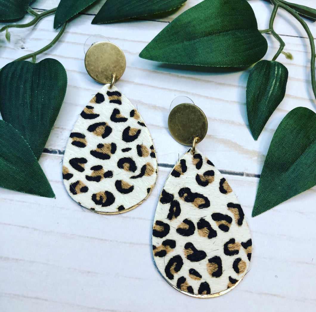 Leopard Drop Earring