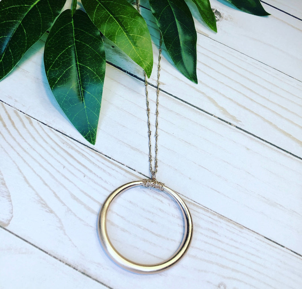 Classic Sphere Pendant Necklace - Rose Gold