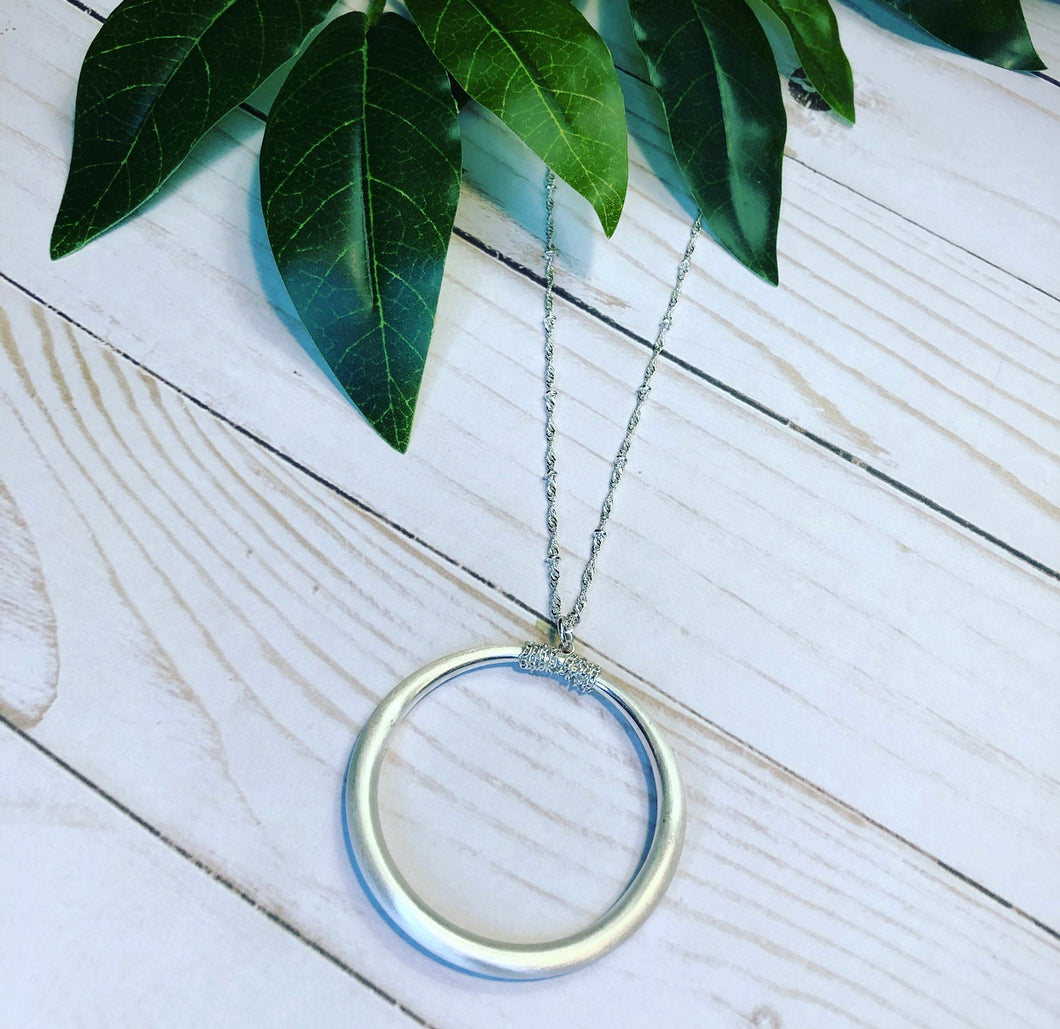 Classic Sphere Pendant Necklace - Silver