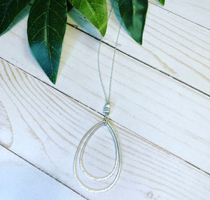 Multi Teardrop Necklace - Silver