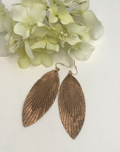 Bronzed Feather Earring
