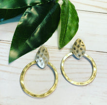 Load image into Gallery viewer, Boho Brushed Sphere Earring - Gold