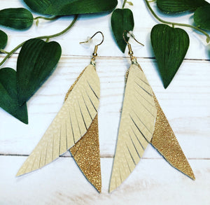 'Boho Chic' Leather Earring