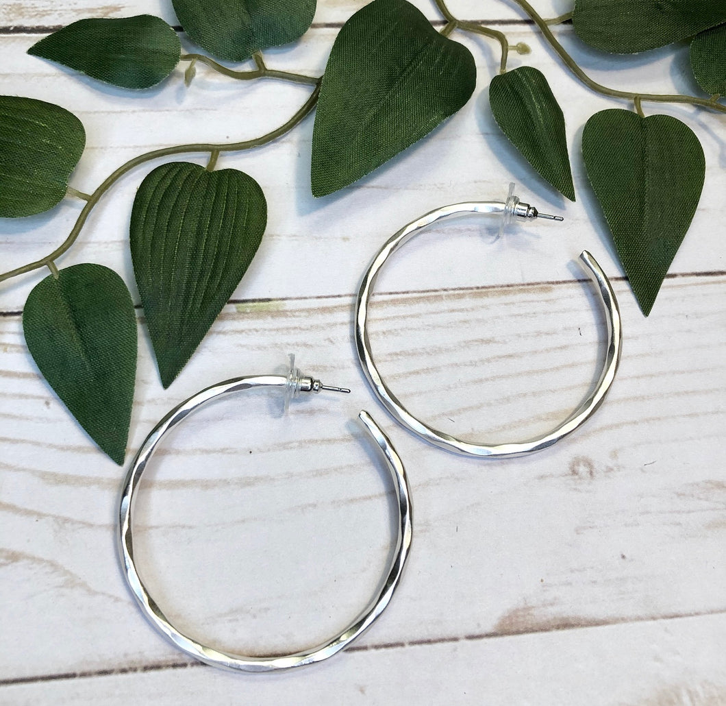 Large Hoop Earring - Silver