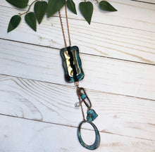Load image into Gallery viewer, 'Wanderer' Necklace - Rustic Blue