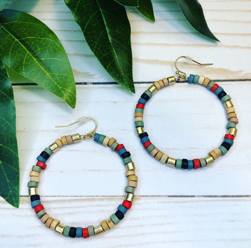 Bright Multi Color Earring