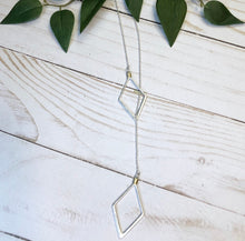 Load image into Gallery viewer, 'Seeing Double' Geometric Necklace - Silver