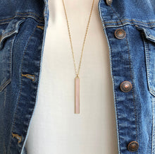 Load image into Gallery viewer, Shimmer Bar Necklace - Pink