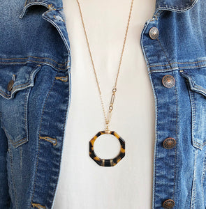 Geometric Tortoise Necklace