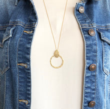 Load image into Gallery viewer, Boho Brushed Sphere Necklace - Gold