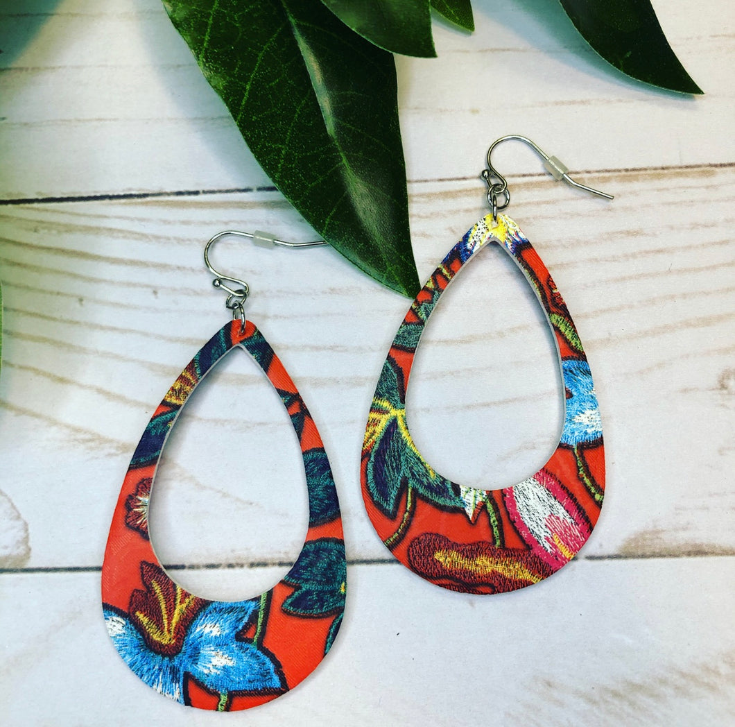 Tropical Paradise Earring - Coral