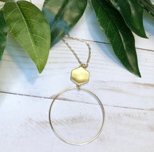 Load image into Gallery viewer, Hexagon Sphere Necklace - Gold