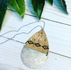 Geometric Pattern Necklace - Silver