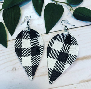 Buffalo Plaid Earring
