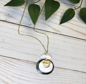 Geometric Sphere Necklace