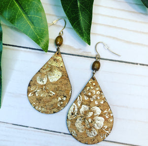 Metallic Floral Earring
