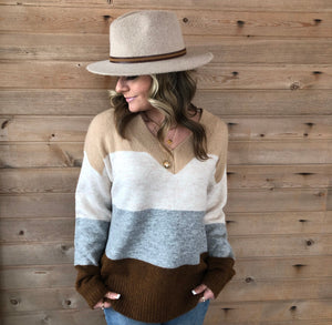Cozy Neutral stripe sweater