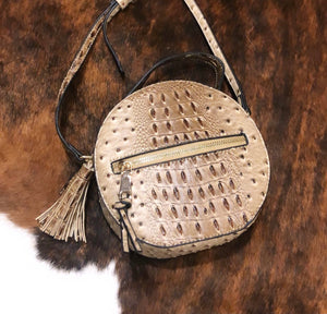 Faux Crocodile Tassel bag