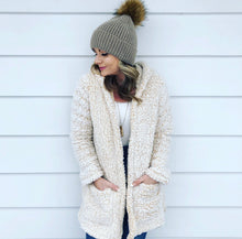 Load image into Gallery viewer, Sherpa cozy cardigan - Mustard