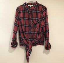 Load image into Gallery viewer, Plaid Tie Top