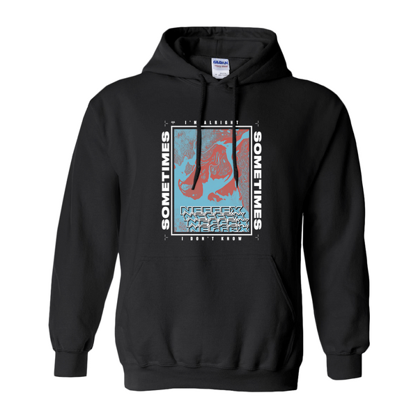 Sometimes Lyric Hoodie - Red/Blue