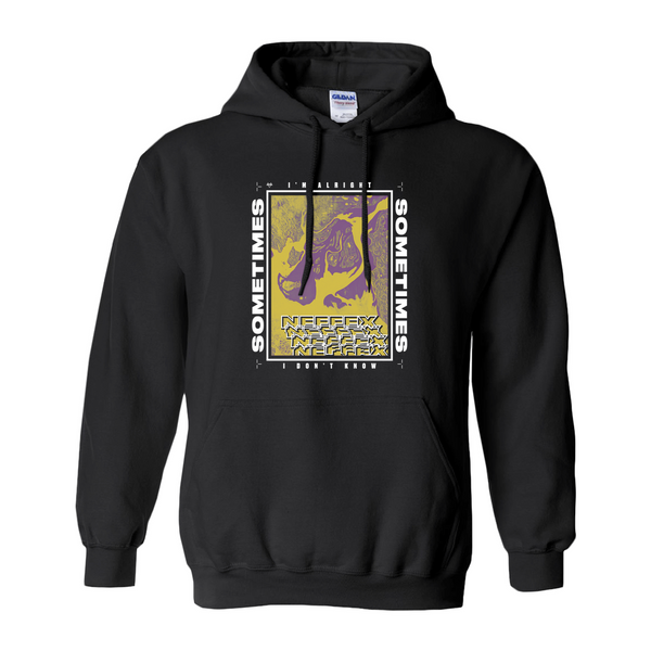 Sometimes Lyric Hoodie - Yellow/Purple