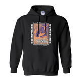 Sometimes Lyric Hoodie - Orange/Purple
