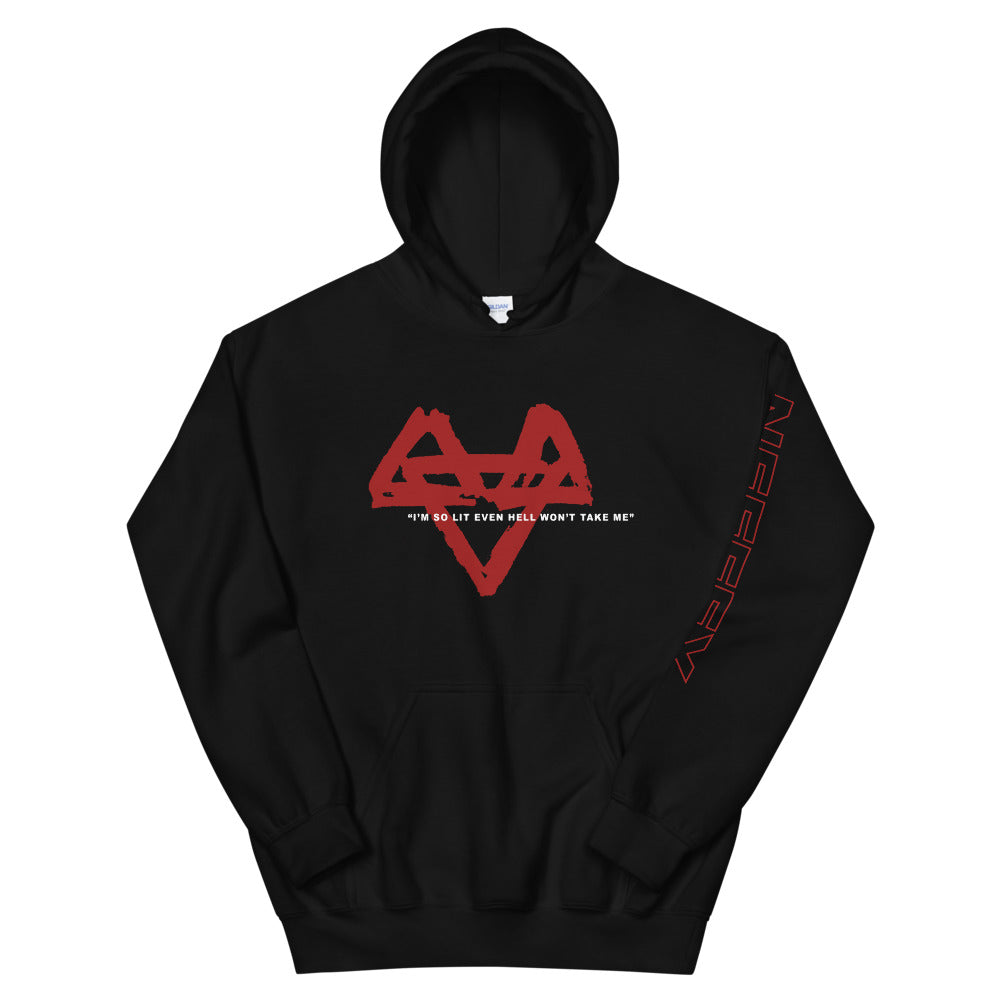 So Lit Hoodie - Black/Red