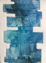 Load image into Gallery viewer, Zen #1 - Handmade Collagraph Print with Wooden Hanger