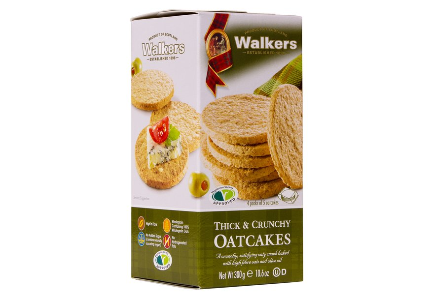 Walkers Thick & Crunchy Oatcakes - Capital Wholesalers