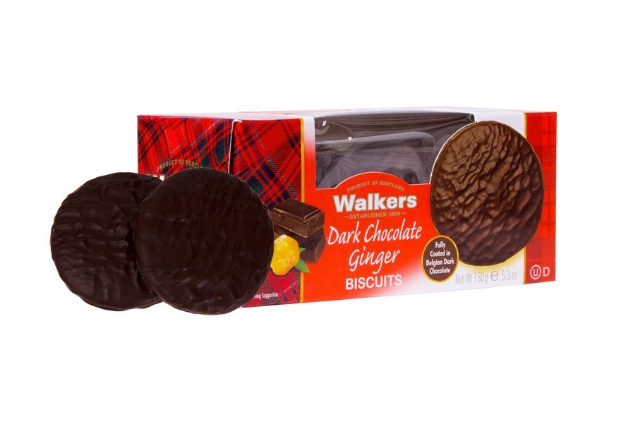 Walkers Fully Coated Dark Chocolate Ginger Biscuits - Capital Wholesalers