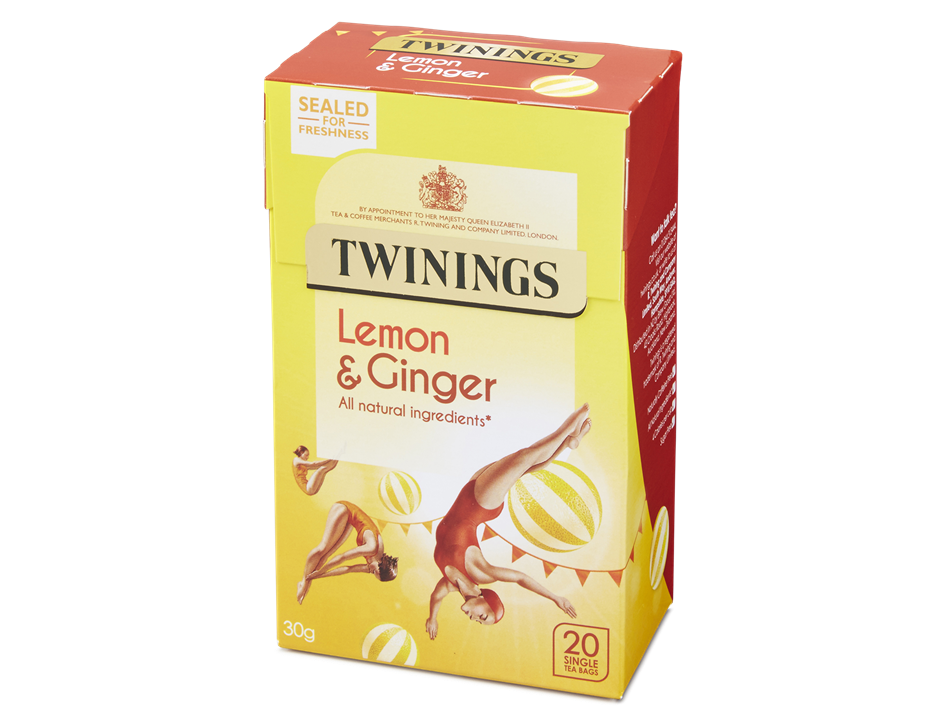 Lemon & Ginger Tea, Twinings (20 bags)