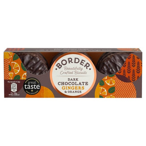 Borders Dark Chocolate Orange & Ginger Biscuits - Capital Wholesalers