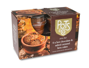 Hot Chocolate Lave Cake, Pots & Co (4x125g)