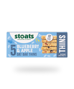 Blueberry & Apple Oat Bar Thins, Stoats (5 pack)