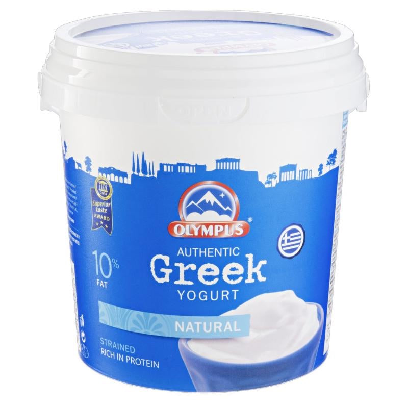 Natural Greek Yogurt 10% Fat, Olympus (1kg)