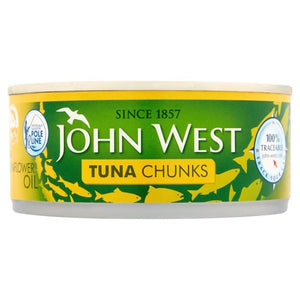 John West Tuna Chunks in Sunflower Oil, 200g