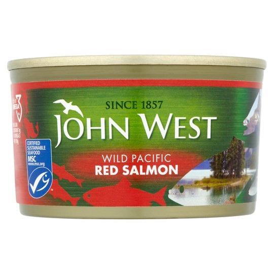 Wild Red Salmon, John West Tuna (213g)