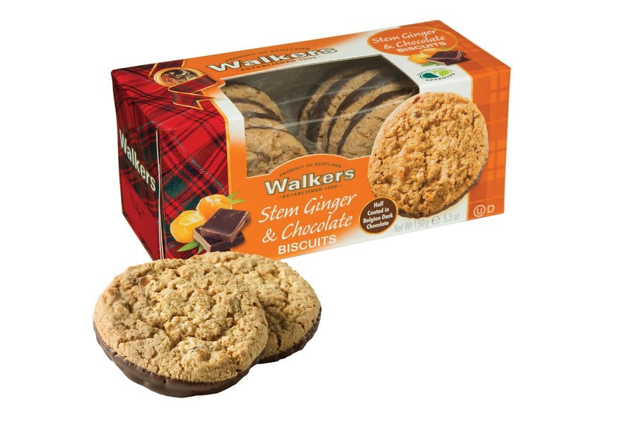 Walkers Stem Ginger & Chocolate Biscuits - Capital Wholesalers