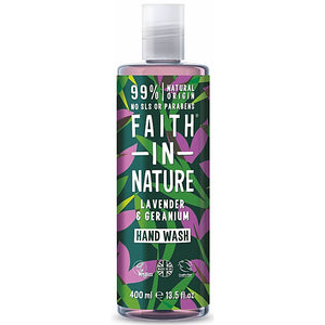 Lavender & Geranium Hand Wash, Faith in Nature (400ml)