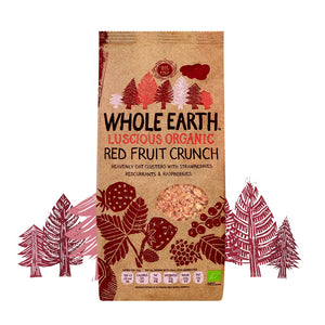 Luscious Red Fruit Crunch, Organic, Whole Earth (450g)