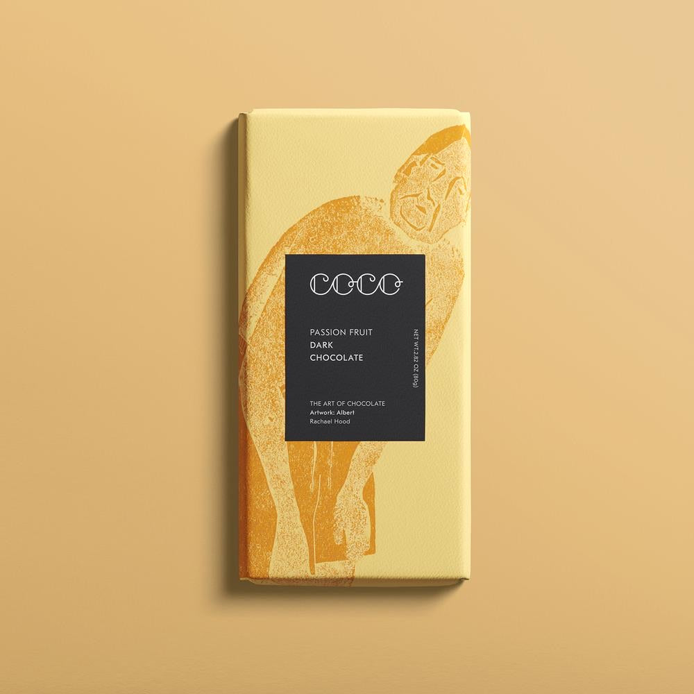 Passion Fruit / Vegan Dark Chocolate, COCO (80g)