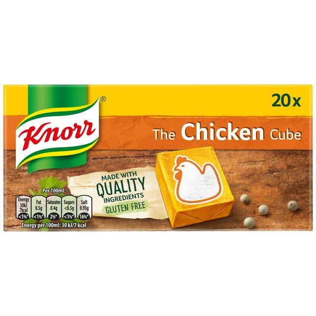 Knorr Chicken Stock Cubes 20x10g Pack - Capital Wholesalers