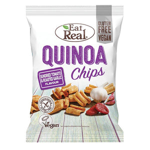 Sundried Tomato & Roasted Garlic Quinoa Chips, Eat Real (30g)