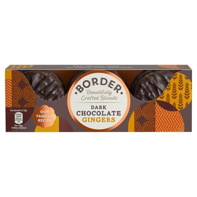 Borders Dark Chocolate Gingers Biscuits - Capital Wholesalers